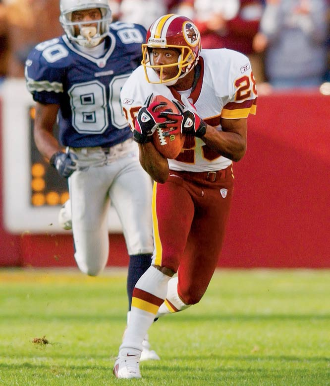 At 42, Green played in all 16 games for the Redskins during his final season (it was his 20th with the team), and he never lost a step. The oldest cornerback in NFL history could still reportedly run a 4.2 past his 40th birthday.