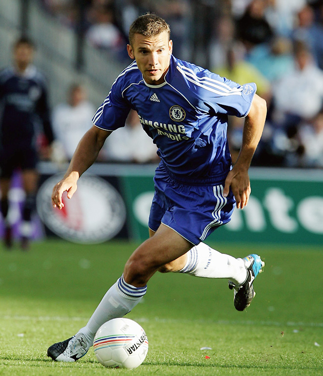 The Ukrainian goal machine long had been admired by Chelsea owner Roman Abramovich and, in the summer of '06, the Russian billionaire finally anted up so much money that AC Milan couldn't say no. But Sheva never really fit at Stamford Bridge, and was loaned back to Milan two years later.