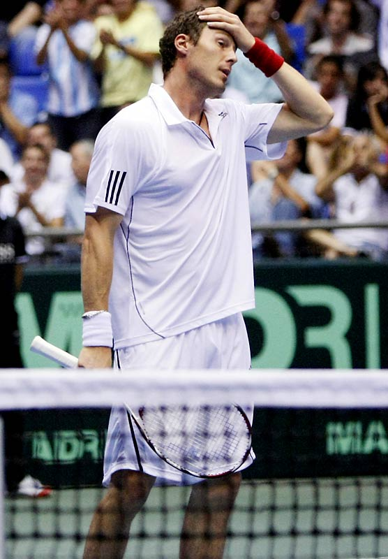"""After crashing out of the Swedish Open with a first-round loss to Nicolas Almagro, Safin expressed his mounting frustration with his farewell season. """"I'm tired of the tour, tired of staying at hotels and tired of traveling. ... I've had enough now,"""" Safin told reporters. """"I am tired of everything that has to do with rackets and balls. I want to do something completely different."""""""