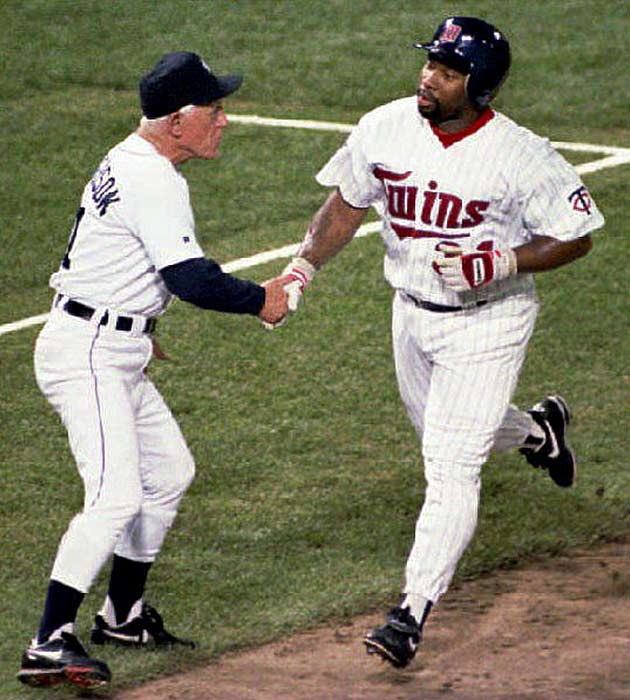 In a game best remembered for John Kruk's non at-bat against fireballer Randy Johnson, the AL All-Stars beat the NL rivals at Baltimore's Camden Yards, 9-3.  Kirby Puckett's double and home run earned the Twins outfielder the Midsummer Classic's MVP Award.