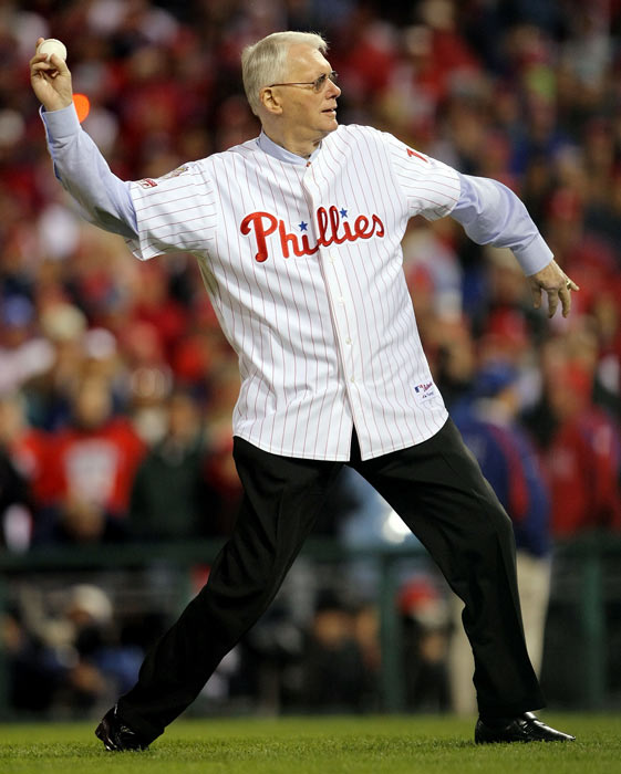 During the first game of a doubleheader, Tiger right-hander Jim Bunning (pictured here in 2008) no-hits the Red Sox, 3-0. The future Hall of Famer became the first modern pitcher to toss a no-hitter in both leagues when he threw a perfect game against the Mets in 1964.