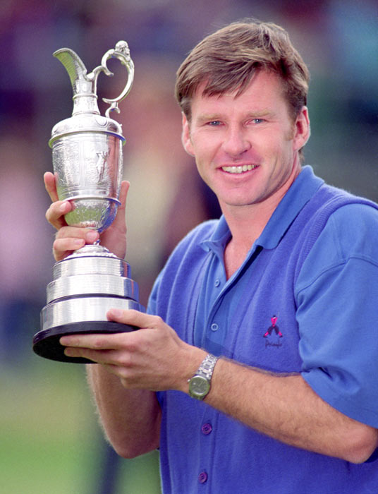 At the 121st British Open, Nick Faldo shoots a 272 at Muirfield Gullane to capture the championship.