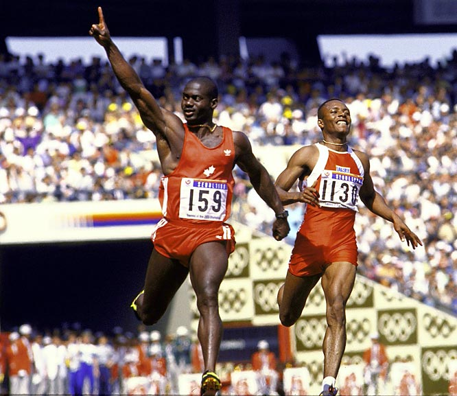 After the 1988 Olympic 100-meter champion was disqualified for flunking a steroids test, he claimed that a herbal energy drink he'd enjoyed before the race had been spiked by a mystery man connected to rival Carl Lewis.