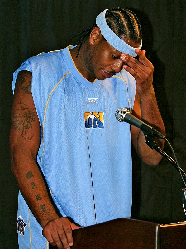 "In 2004, the Denver Nuggets star was busted at Denver International Airport when marijuana was found in his backpack. Anthony insisted the pot belonged to an out-of-town ""friend"" who'd borrowed the backpack and left the wacky weed inside."