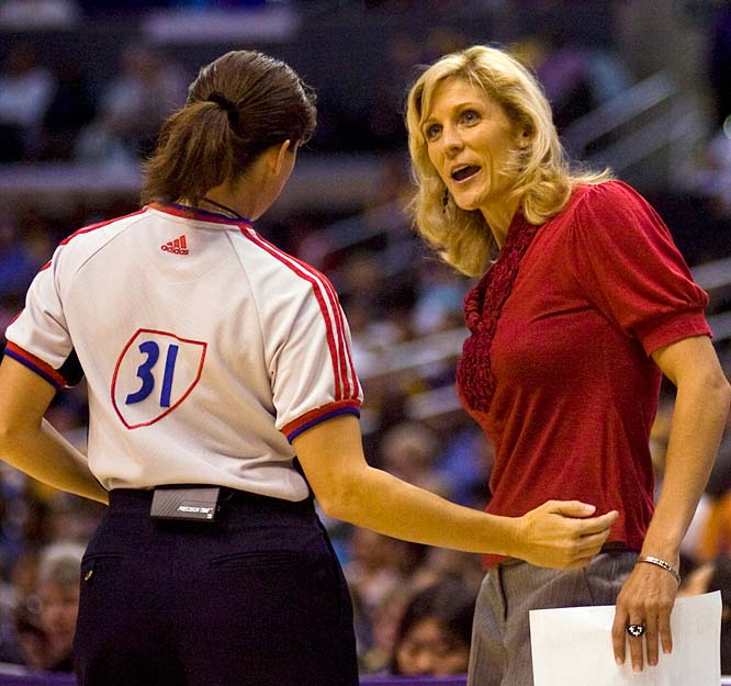 One can't help but sympathize with Jenny Boucek (pictured), who was fired on Monday after going 40-41 and making the playoffs twice over two-plus seasons. The league didn't do her any favors by scheduling eight of Sacramento's first 12 games on the road, and management didn't do her any favors by assembing an aging roster. General manager and former coach John Whisenant takes over and believes he can have this lot playing with the same intensity that won Sacramento a title in 2005.<br><br>Next three: 7/17 vs. Seattle; 7/19 vs. Detroit; 7/22 at Connecticut