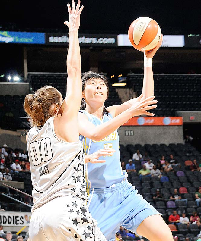 Like her teammate Sylvia Fowles, Sky center Chen Nan (pictured) is 6-foot-6, rangy and nimble. But unlike Fowles, she's not nearly as relentless a rebounder, as effective a shot blocker or as imaginative a scorer. When Fowles went down with a sore right knee at the beginning of a three-game road swing, the Sky saw just how mightily Chen struggled to fill her big shoes. She averaged a pedestrian 3.0 points, 2.5 rebounds and no blocks in losses to San Antonio (85-72) and Sacramento (83-73).<br><br>Next three: 7/8 at Phoenix; 7/10 vs. Indiana; 7/12 at Seattle