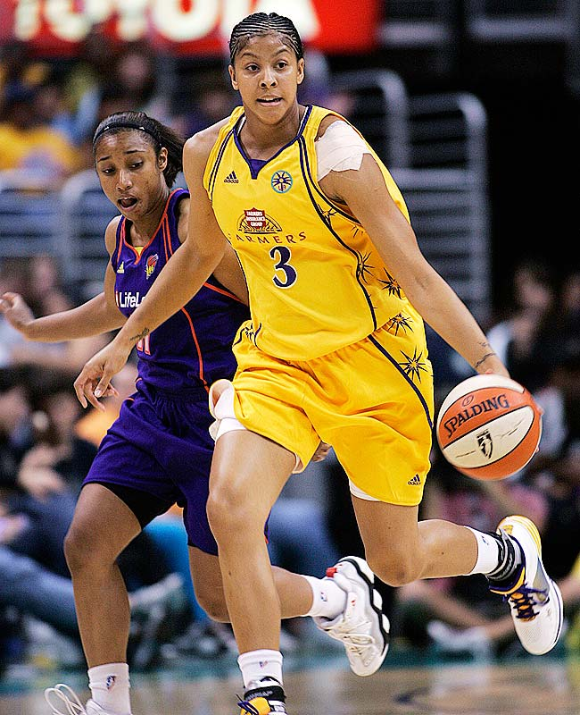 After a wait of more than a month, Candace Parker (pictured) made her season debut on Tuesday against Phoenix. The league's MVP and top rookie last year, she scored six points and four rebounds in a little over 18 minutes. Not bad for a woman who gave birth to her first child, daughter Lailaa, on May 13.<br><br>Next three: 7/9 at New York; 7/11 at Washington; 7/14 at Connecticut