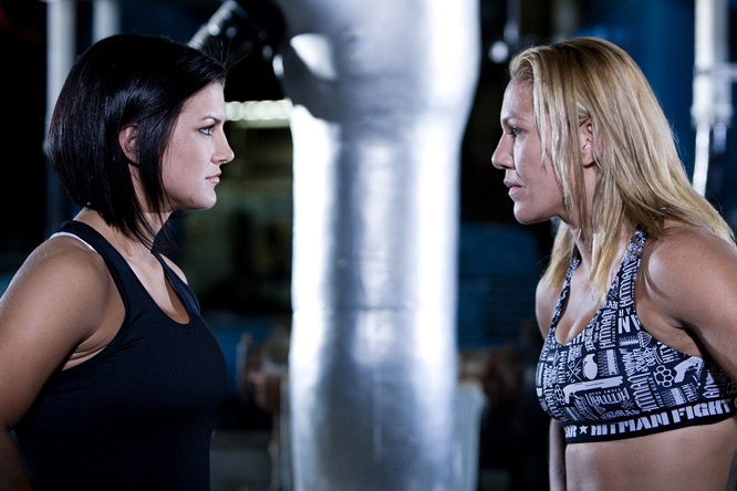 In the first female main event on a major MMA card, Gina Carano (left) battled Cris ''Cyborg'' Santos for Strikeforce's 145-pound belt in San Jose, Calif., on Aug. 15. Dubbed the face of women's MMA, the favored Carano entered the bout with a flawless 7-0 record, but Cyborg stunned her and fans, alike, winning the belt with a first-round technical knockout.