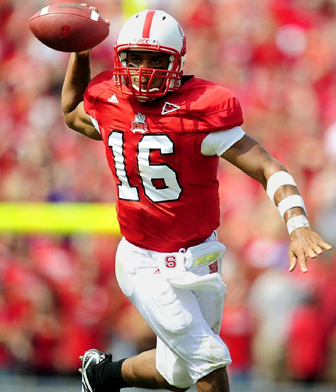 A two-sport star, Wilson threw for 1,955 yards last season to become the first freshman to earn All-ACC quarterback honors. Always a threat to run, Wilson's also a smart and accurate passer; he threw just one interception in 2008.