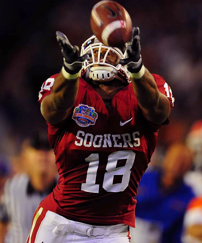 Spurred by the 2008 title game loss, Gresham returned for his senior season. The big target has improved markedly as a blocker and has a propensity to shine brightest in big games. Last season he averaged seven catches for 97 yards against Cincinnati, Florida, Missouri, Texas and Texas Tech.
