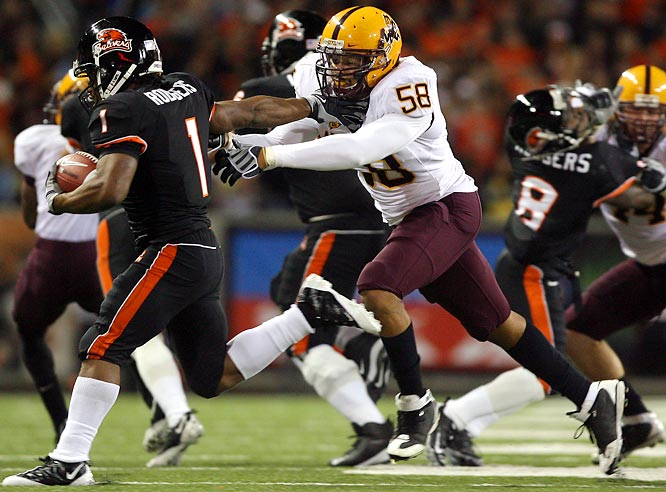 The underrated pass-rusher has notched at least 10 sacks each of the past two seasons. In addition to wreaking havoc from the outside, Davis has been a consistent defensive presence, starting all 38 games of his Sun Devils career.