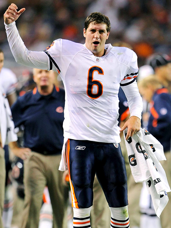 Not only could Jay Cutler celebrate Chicago's 27-17 win over his former team, but he likely knows the Bears won't be making a return trip to the Mile High area until 2011.