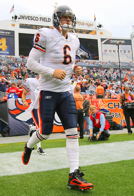 He may be Public Enemy No. 1 in Denver now, but Jay Cutler still holds the Broncos' franchise record for most passing yards in one season (4,526 in 2008).