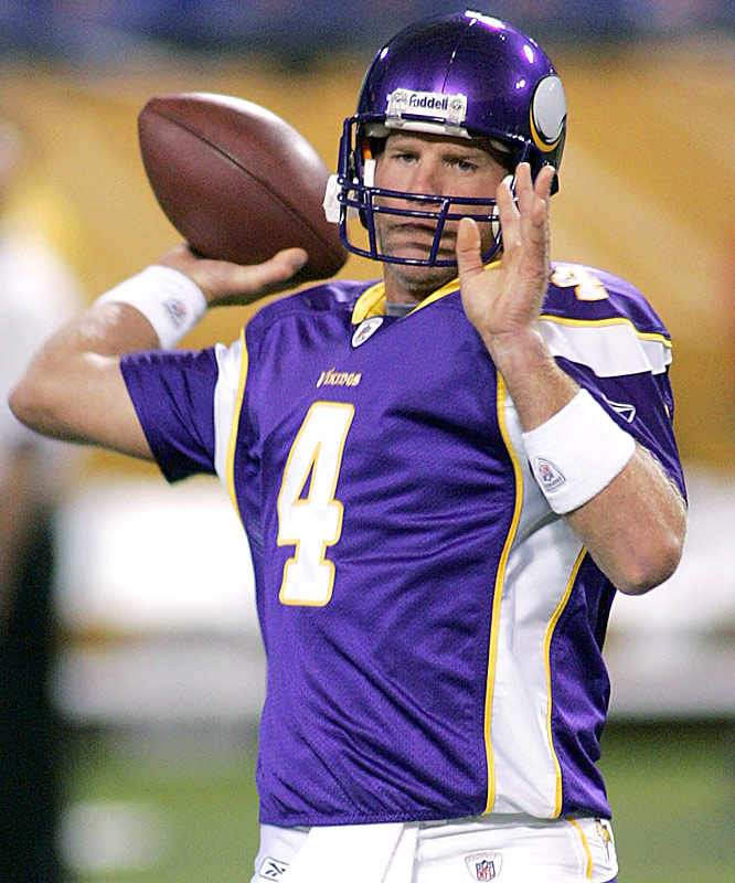 Brett Favre may be turning 40 on Oct. 10, but he likely had jitters during warmups with his new club.