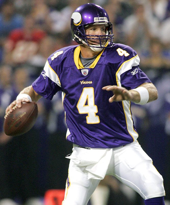 Brett Favre has thrown for 65,127 yards and 464 touchdowns in 18 pro seasons.