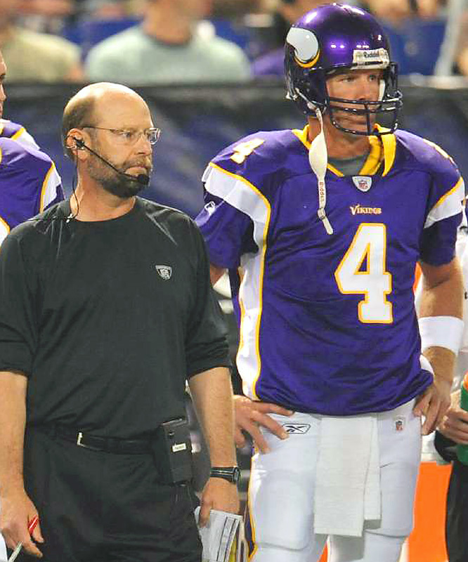 Brad Childress's coaching future with the Vikings may be directly tied to how well the Favre Experiment goes this season.