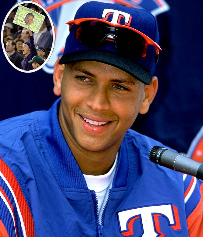 """In the fall of 2000, just prior to the Mariners' ALCS series against the Yankees, A-Rod spoke about his looming free agency, saying Seattle was definitely in the picture. """"Money isn't my top priority. It might not even be in the top five."""" Months later, Rodriguez signed with the Rangers for the largest contract in baseball history: 10 years, $252 million. The Braves and Mariners were the other finalists in the A- Rod sweepstakes, but he eventually went with Texas, a franchise that had never been beyond the first round of the playoffs."""