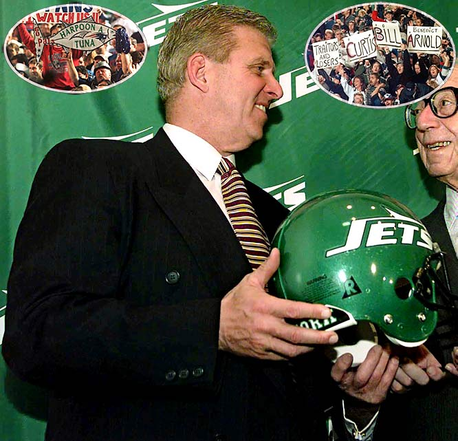 His relationship with Patriots owner Robert Kraft faltering, Parcells quit five days after the 1996 season ended. Despite Parcels still being owned by the Patriots, the bitter division rival Jets actively pursued him, eventually giving up four picks to New England after first trying to circumvent the contract. Within two seasons, Parcells' Jets had a 12-4 record and were playing in the AFC Division Championship game while the New England players watched from home.