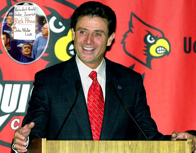After re-establishing Kentucky basketball and successive championship game appearances in 1996 and 1997 (defeating Syracuse in '96), Pitino bolted to the NBA. Four years later, the prodigal son, the savior of Kentucky basketball, was back -- but with in-state rival Louisville, a mere 70 miles down the road.