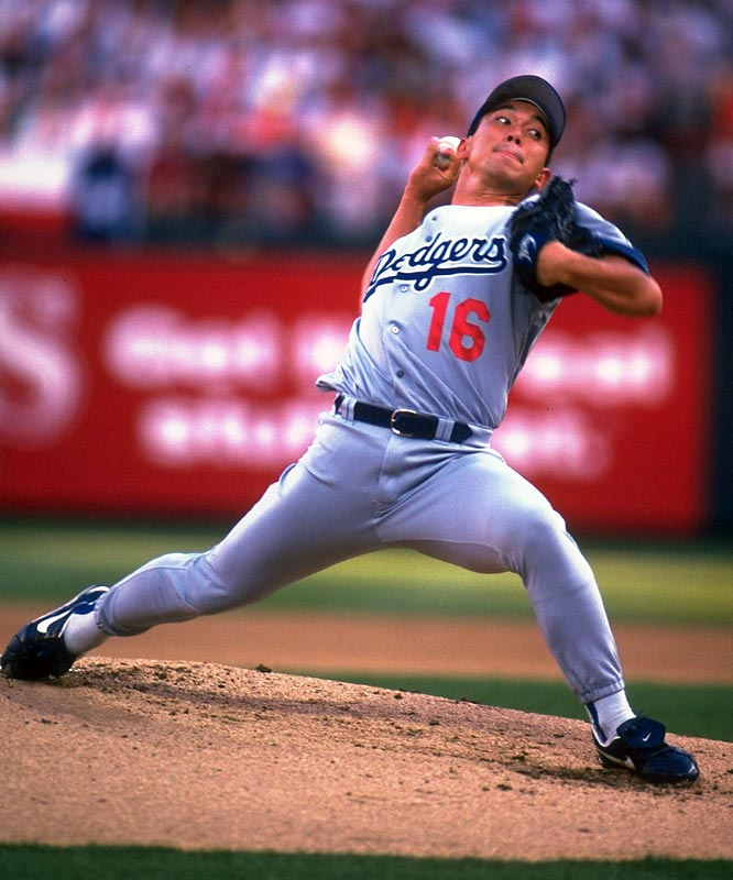 Hideo Nomo during the All-Star game.