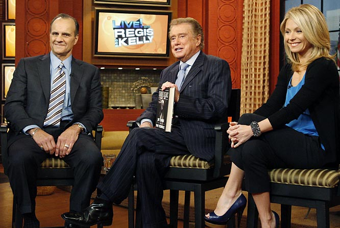"Joe Torre makes an appearance on ""Live with Regis and Kelly"" earlier this year to promote his book, ""The Yankee Years.""    Send comments to siwriters@simail.com."