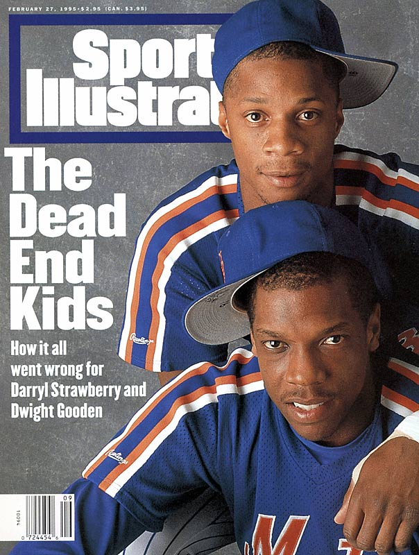 In this SI cover photo, Darryl Strawberry and Dwight Gooden pose for a cover story about the duo and their various off-the-field problems.