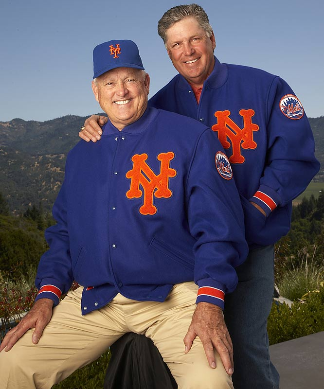 Hall of Famers and 1969 Mets stars Nolan Ryan (L) and Tom Seaver at the GTS Vineyards on Diamond Mountain. Seaver owns the vineyard and Ryan is the president of the Texas Rangers.