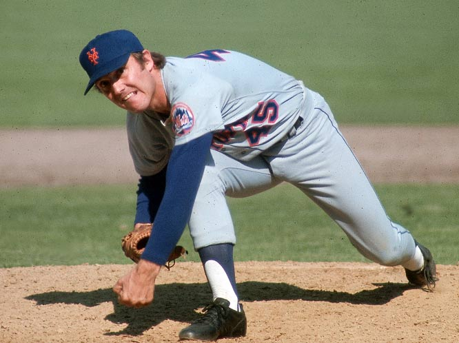 Tug McGraw throws a pitch during the 1973 World Series against Oakland. The Mets would eventually lose the series in seven games.