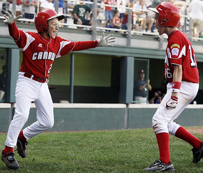 Canada rallied in the sixth, when Anthony Cusati hit his second homer of the game, a two-run shot that got Canada within 13-12. After loading the bases, Reyes drove in the winning runs.