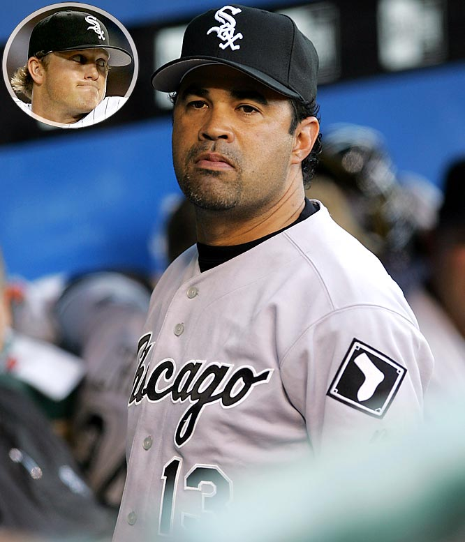 After notorious head-hunter Vicente Padilla hit A.J. Pierzynski twice, White Sox manager Ozzie Guillen sent Sean Tracey into the game with orders to hit Texas' Hank Blalock. Tracey failed to hit Blalock twice before getting him to ground out. Guillen immediately removed him from the game and gave him an earful in the dugout. The White Sox demoted Tracey to Triple-A the very next day.