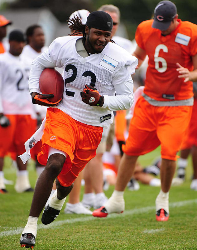 Hester may hold the Bears' franchise record for career punt return yards (1,449), but he is not having as much luck as a receiver in camp.  Although his hands have been a bit shaky, Hester should be able to overcome his receiving woes once he gets used to Jake Cutler's playing style.