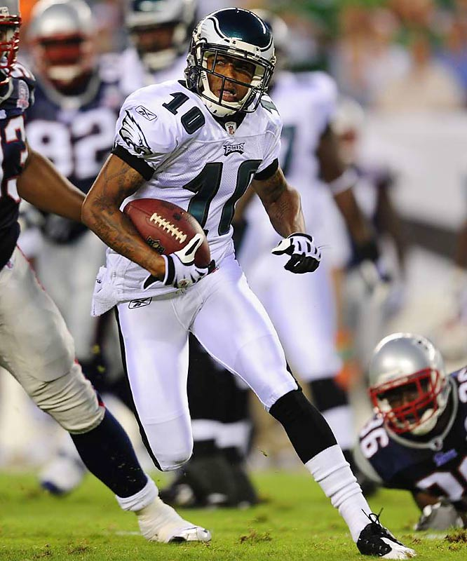 With 62 catches for 912 yards his rookie season, DeSean Jackson is the Eagles go-to-receiver. He's scored one touchdown in limited preseason action this year.