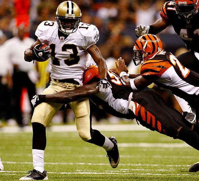 A former sales clerk at Toys 'R' Us and Arena League 2 standout, Harper is trying to hang on to a job with the Saints. He caught two passes for 48 yards against the Bengals and returned a punt 79 yards for a touchdown against the Texans.