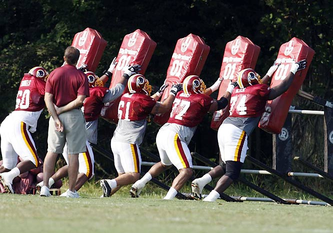 The Redskins' offensive line helped the running game average 131 yards per game last season, eighth best in the NFL.