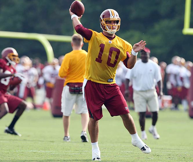 2007 Heisman Trophy finalist Chase Daniel signed with Washington as an undrafted rookie free agent in April.  Daniel threw for more than 12,500 yards and 101 touchdowns for the Missouri Tigers.
