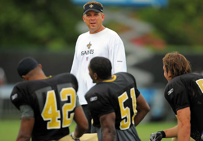 Entering his fourth season as the Saints' head coach, Sean Payton has posted a 25-23 record.