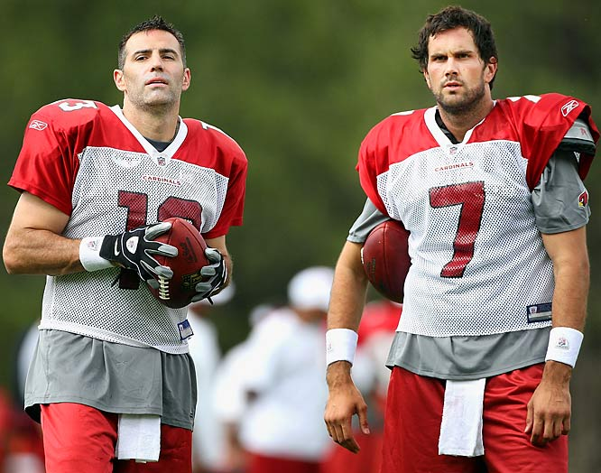 After their surprise Super Bowl run, Kurt Warner and Matt Leinart look to build on last season's success.