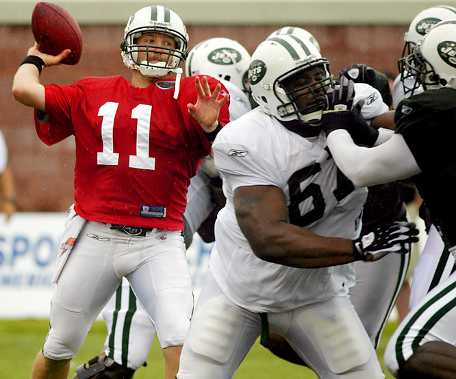 With Brett Favre out of the picture and Mark Sanchez waiting in the wings, Kellen Clemens aims to leave his mark on the Jets.