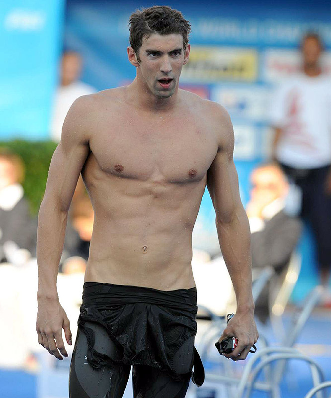 Unlike many competitors, Phelps decided against using the newly designed suits, which are set to be illegal for competition next year.