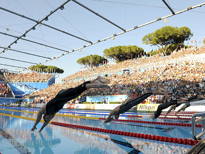 The 100 meter butterfly was the most anticipated race of the 2009 world championships.