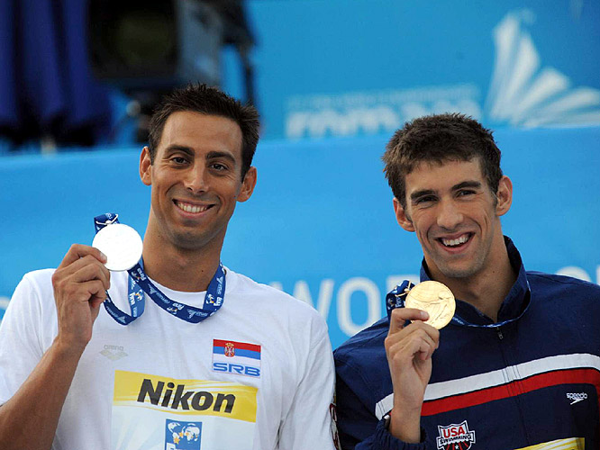 Cavic told Phelps after the race, 'You're the man.'
