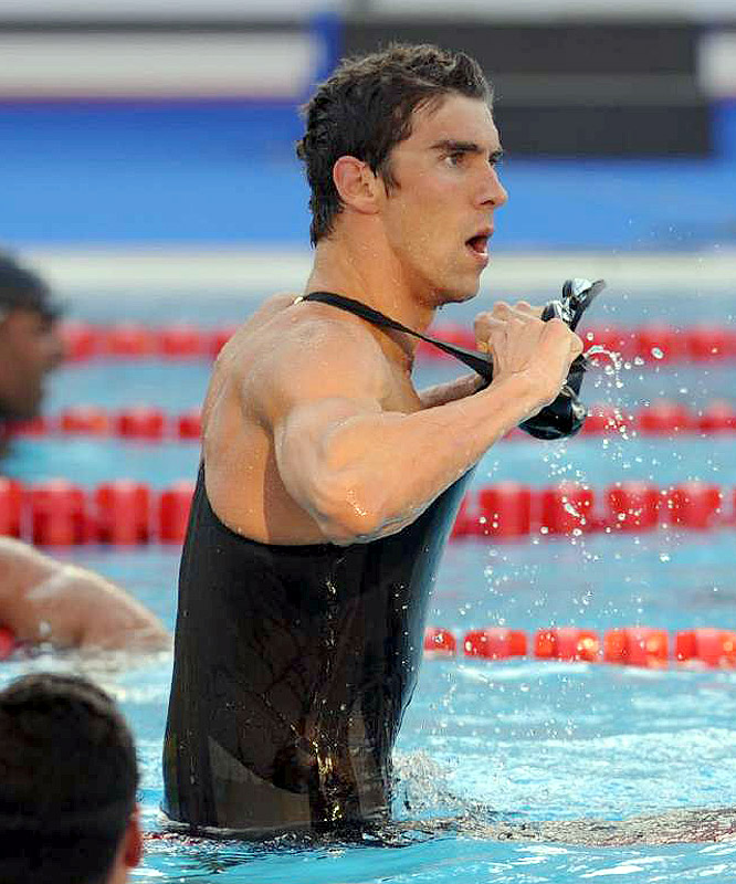 Phelps wore his Speedo suit, which was viewed as outdated despite being just a year old. Cavic wore the new, faster design by Arena.