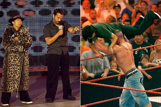 "The WWE's weekly parade of celebrity guest hosts for <i>Raw</i> continued this week as Piven stepped into the squared circle. But he was completely overshadowed by his co-host, Dr. Ken (<i>The Hangover</i>, <i>Knocked Up</i>) who channeled his inner Andy Kaufman and turned against John Cena at the end of the show. Dr. Ken is doing just fine in Hollywood, but if he ever decided to quit his day job, he would easily be the best manager in pro wrestling since Bobby ""The Brain"" Heenan."