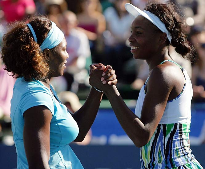 Neither won a tournament during the hard-court tune-ups, but never discount the sisters at majors. Defending champion Serena is looking for her third Grand Slam of the year and fourth U.S. Open crown; she is 18-1 in majors and 20-9 in other tournaments this year. Venus, who won the Open in 2000 and '01, is coming off a loss to Kateryna Bondarenko in her first match at the Rogers Cup in Toronto.