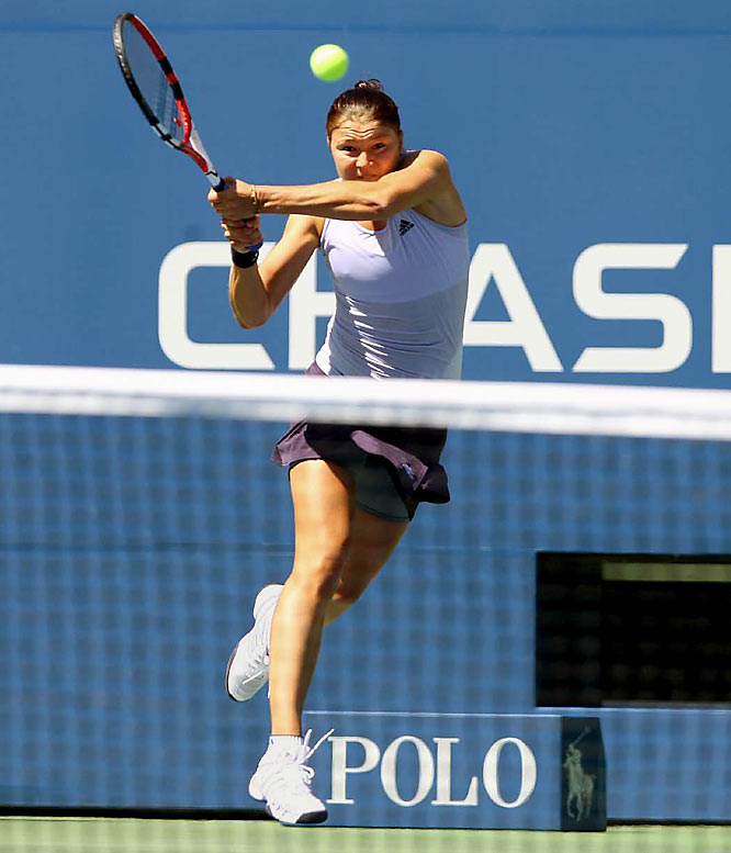 Safina nearly made history as the first top-seeded woman at the Open to lose in the first round. But the Russian overcame 11 double faults and 48 unforced errors to rally past 167th-ranked Olivia Rogowska of Australia 6-7 (5), 6-2, 6-4.