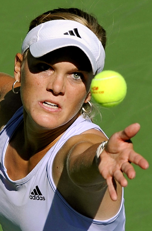The 17-year-old American defeated Anastasia Pavlyuchenkova of Russia, 6-1, 6-2 for her first career victory at the Open.