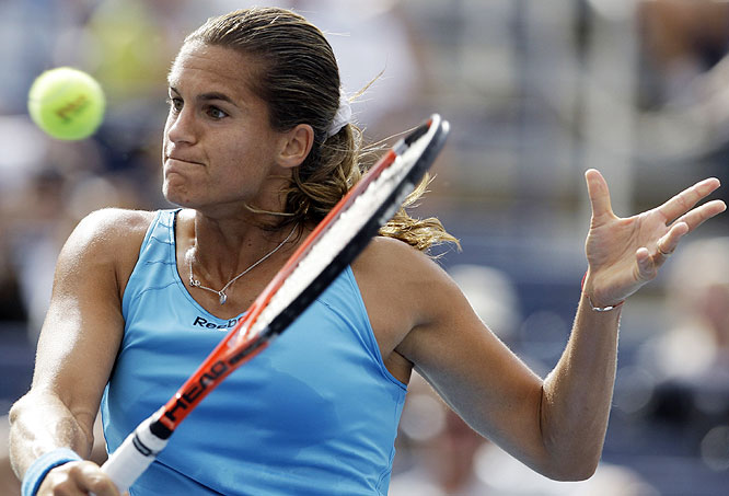 Mauresmo broke serve five times in her 6-3, 6-4 victory against Tatjana Malek.
