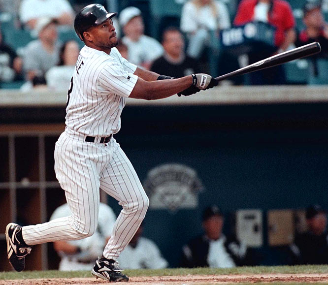 Albert Belle becomes only the fourth player to drive in 100 runs and hit 30 homers for seven consecutive seasons. He joins Jimmie Foxx, Lou Gehrig and Babe Ruth as the only players to accomplish this feat.