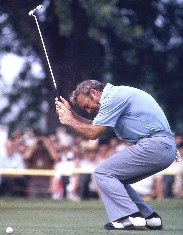 For the first time in his career, Arnold Palmer does not make the cut for the final two rounds of the PGA Golf Championship.