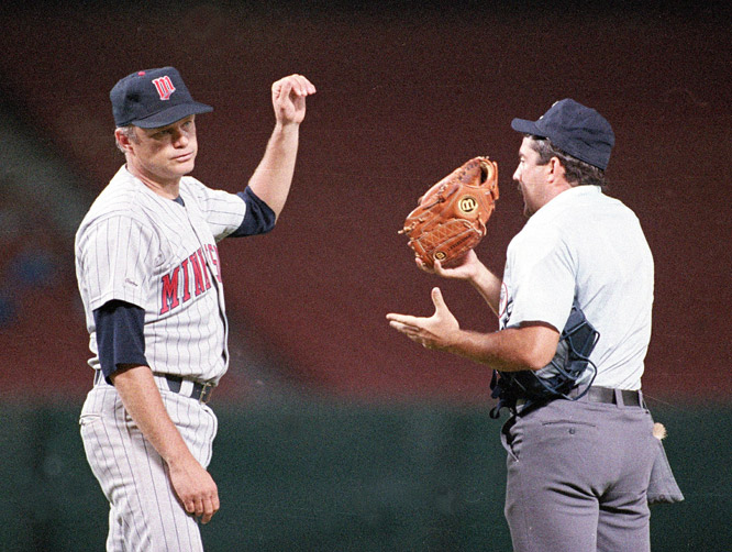 In an 11-3 victory over the Angels, Twins pitcher Joe Niekro is ejected in the fourth inning when he is caught doctoring the ball with a nail file.